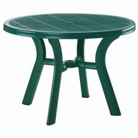 Truva Resin Outdoor Dining Table 42 inch Round Dark Green ISP146