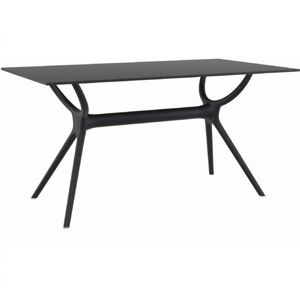 Air Rectangle Outdoor Dining Table 55 inch Black ISP705