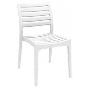 Ares Resin Outdoor Dining Chair White ISP009