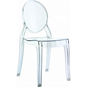 Baby Elizabeth Polycarbonate Kids Chair Transparent Clear ISP051