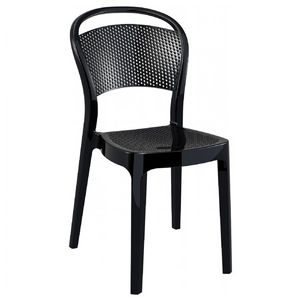 Bee Polycarbonate Dining Chair Glossy Black ISP021