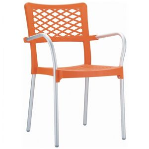 Bella Outdoor Arm Chair Orange ISP040
