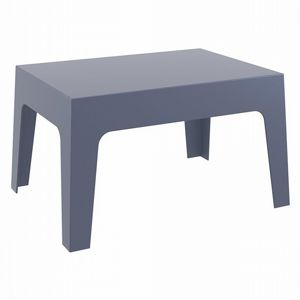 Box Resin Outdoor Coffee Table Dark Gray ISP064