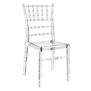 Chiavari Polycarbonate Dining Chair Transparent Clear ISP071