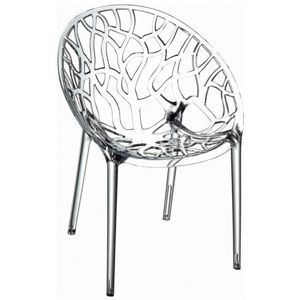Crystal Outdoor Dining Chair Transparent ISP052-TCL