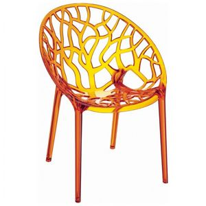 Crystal Outdoor Dining Chair Transparent Orange ISP052-TORA