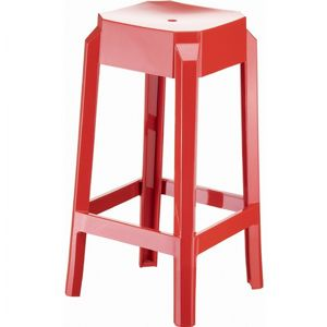 Fox Polycarbonate Counter Stool Glossy Red ISP036