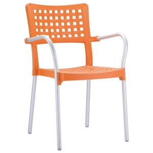 Gala Outdoor Arm Chair Orange ISP041