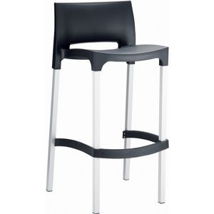 Gio Resin Outdoor Barstool Black ISP035