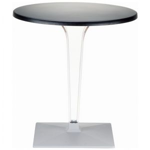 Ice Round Dining Table Black Top 24 inch. ISP500