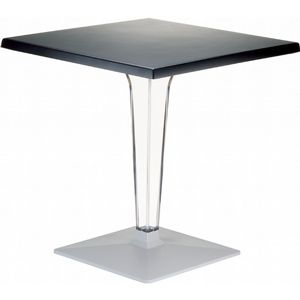 Ice Square Dining Table Black Top 28 inch. ISP560