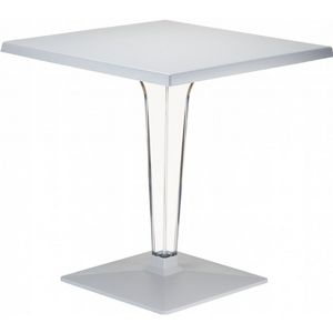 Ice Square Dining Table Gray Top 24 inch. ISP550