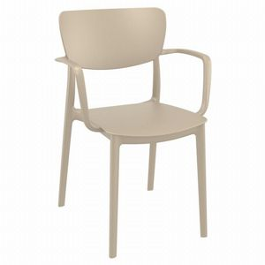 Lisa Outdoor Dining Arm Chair Taupe ISP126