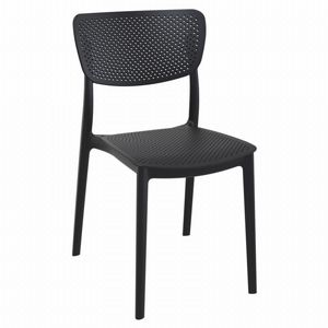 Lucy Outdoor Dining Chair Black ISP129