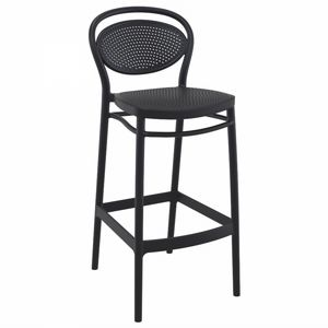 Marcel Outdoor Bar Stool Black ISP269