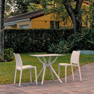 Maya Outdoor Dining Set with 2 Chairs White ISP7003S