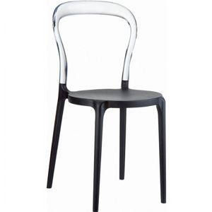 Mr Bobo Chair Black with Transparent Back ISP056