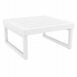 Mykonos Square Outdoor Coffe Table White ISP137