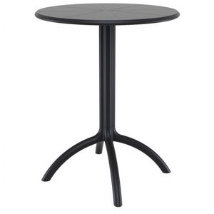 Octopus Resin Outdoor Dining Table 24 inch Round Black ISP160