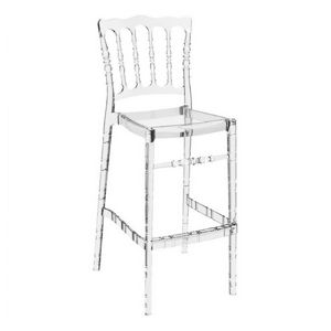 Opera Polycarbonate Barstool Transparent Clear ISP073