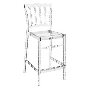 Opera Polycarbonate Counter Stool Transparent Clear ISP074