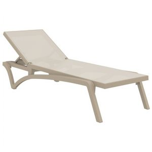 Pacific Stacking Sling Chaise Lounge Taupe - Taupe ISP089-DVR-DVR