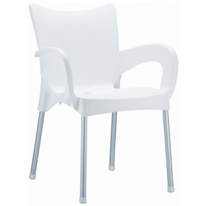 RJ Resin Outdoor Arm Chair White ISP043