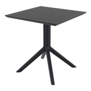 Sky Square Outdoor Dining Table 27 inch Black ISP108