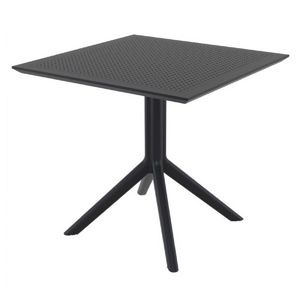 Sky Square Outdoor Dining Table 31 inch Black ISP106