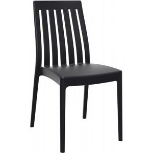 Soho Modern High-Back Dining Chair Black ISP054