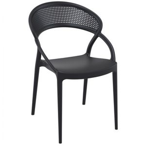 Sunset Outdoor Dining Chair Black ISP088