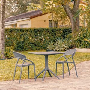Sunset Patio Dining Set with 2 Chairs Dark Gray ISP1068S