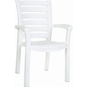 Sunshine Marina Resin Arm Chair White ISP016
