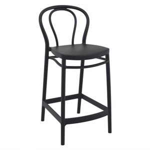 Victor Outdoor Counter Stool Black ISP261