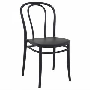 Victor Resin Outdoor Chair Black ISP252