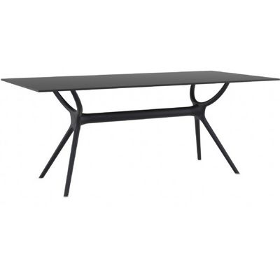 Air Rectangle Outdoor Dining Table 71 inch Black ISP715-BLA