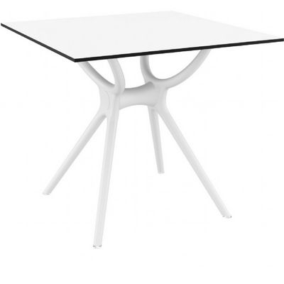 Air Square Outdoor Dining Table 31 inch White ISP700-WHI