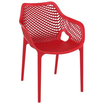 Air XL Outdoor Dining Arm Chair Red ISP007