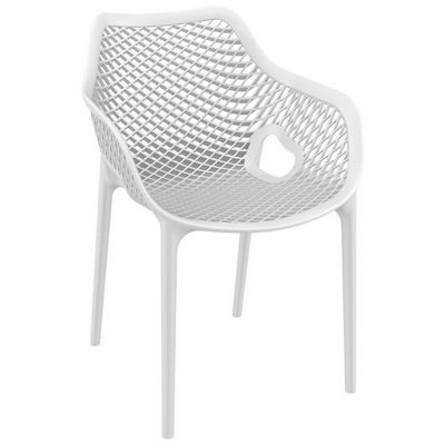 Air XL Outdoor Dining Arm Chair White ISP007-WHI