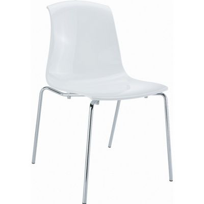 Allegra Dining Chair Glossy White ISP057-GWHI