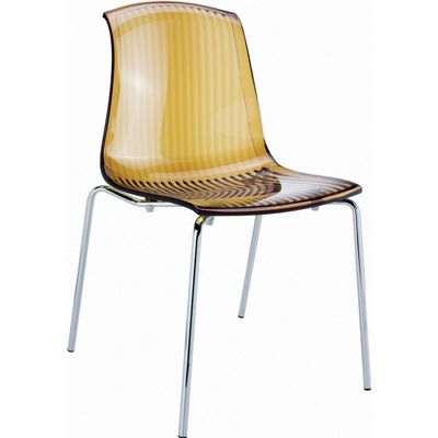 Allegra Dining Chair Transparent Amber ISP057-TAMB