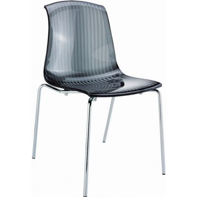 Allegra Dining Chair Transparent Black ISP057