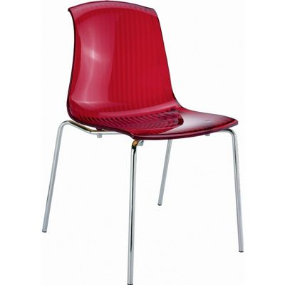Allegra Dining Chair Transparent Red ISP057-TRED