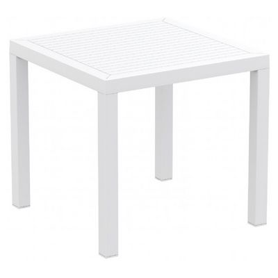 white garden dining table and chairs ares resin outdoor square