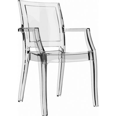 Arthur Transparent Polycarbonate Arm Chair Clear ISP053
