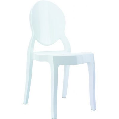 Baby Elizabeth Polycarbonate Kids Chair Glossy White ISP051-GWHI