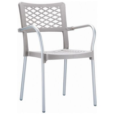 Bella Outdoor Arm Chair Silver Gray ISP040