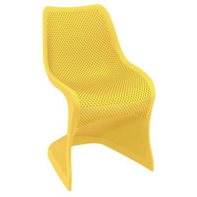 Bloom Contemporary Dining Chair Yellow ISP048-YEL