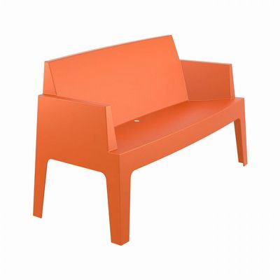 Box Outdoor Bench Sofa Orange ISP063-ORA