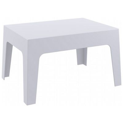 Box Resin Outdoor Coffee Table Silver Gray ISP064